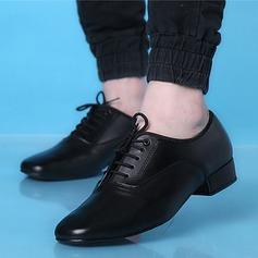 De los hombres Piel Danza latina Estilo Moderno Zapatos de danza