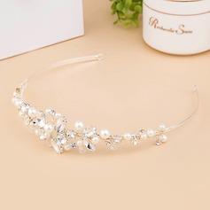 Şık Kristal/Faux Pearl Taçlar