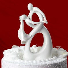 Dancing Couple Ceramic Wedding Cake Topper