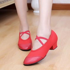 Women's Canvas Leatherette Sandals Ballet Dance Shoes