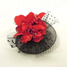 Elegant Imitatie Parel/Netto garen Fascinators