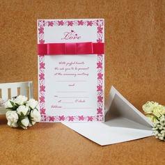 klassisk Stil Flat Card Invitation Cards med Bånd (Sett Av 50)