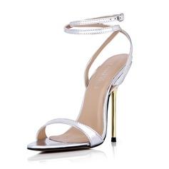 Donna Similpelle Tacco a spillo Sandalo Stiletto Punta aperta Con cinturino con Fibbia scarpe