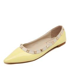 Femmes Similicuir Talon bas Chaussures plates avec Rivet chaussures