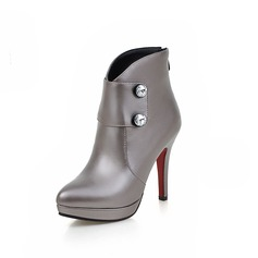 Women's Leatherette Stiletto Heel Pumps Boots Ankle Boots shoes