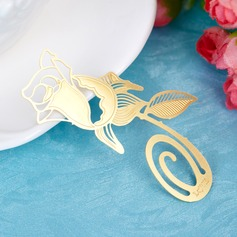 Lovely Rose Zinc Alloy Bookmarks