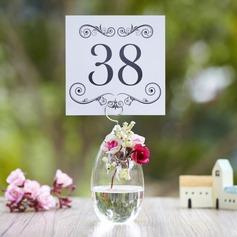 Elegant Glass Place Card Holders