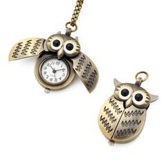 Owl Shaped Pocket Watch