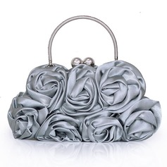 Elegant Silk With Flower Wristlets