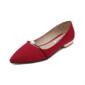 Kadın Süet Düz Topuk Daireler Kapalı Toe Ile İmitasyon İnci ayakkabı (086094411)